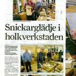 Vi fick ett uppslag i Norrtelje Tidning