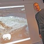 Fredrik Bondestam berättade om sitt fynd av rödhuvad sparv - det första i landet