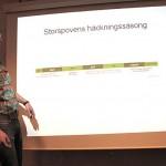 Tobias Nilsson berättade om ROFs storspovsprojekt
